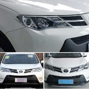 Хромированные накладки на фары Toyota RAV-4 (2013-2015)
