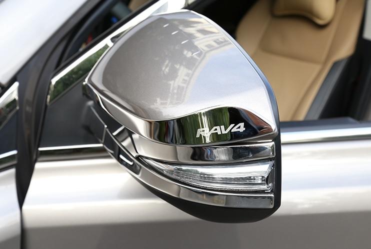 Хромированные накладки на зеркала заднего вида Toyota Rav-4 (2013-2017)