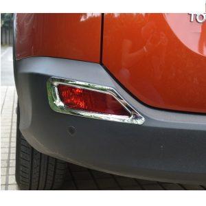 Хромированные накладки на задние ПТФ Toyota Rav 4 (2013-2015)