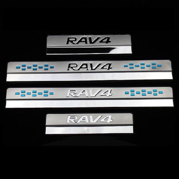 Хромированные накладки на пороги Toyota Rav-4 (2013-2017)