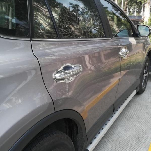 Хромированные накладки на дверные ручки Toyota Rav-4 (2013-2015)